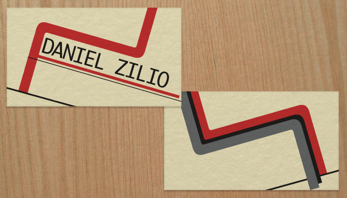 Thumbnail for Screenshot of front Daniel Zilio business cards