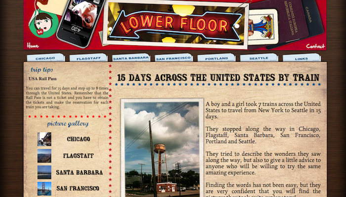 Screenshot of Lowerfloor website