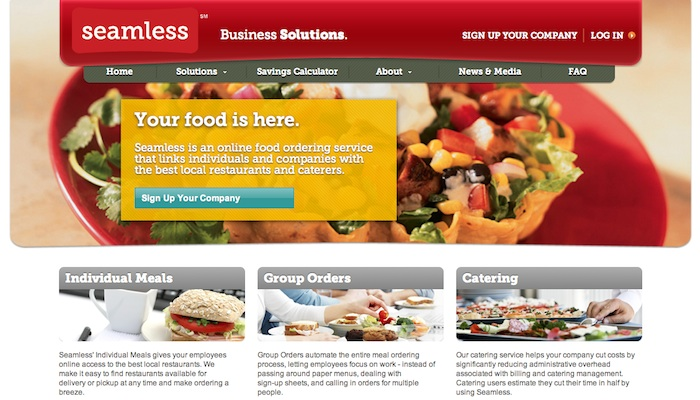 Screeshot of Seamless Business Solutions